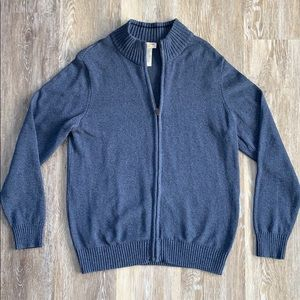 Dockers Men's L Blue Zip Sweater